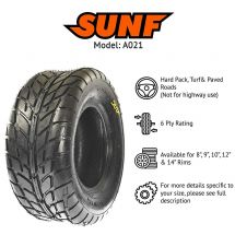 225/45x9 / 225x45x9 SUNF A-021 6 PLY TYRE ATV QUAD E-MARKED - PRE ORDER